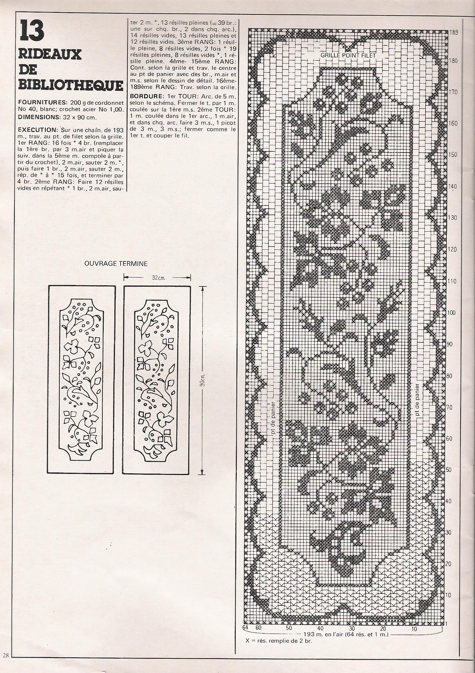 grille gratuite pour rideaux au crochet. Black Bedroom Furniture Sets. Home Design Ideas