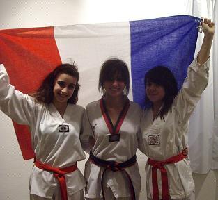 Marianne, Mélissa & Gaëlle le jour du Goûter de Noël !