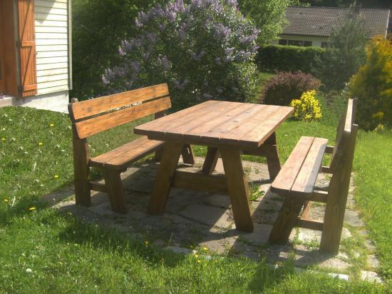 TMCbois tables et bancs, salon de jardin,