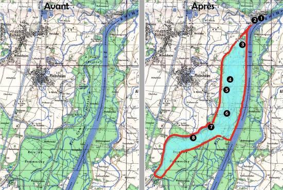 Avant et après le Plan d'Eau
