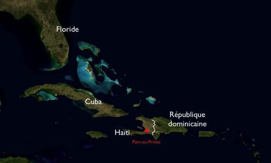 vue satellite d'Haïti