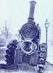 Tracteur Diplock avec ses plots 'Pedrial' en 1902.