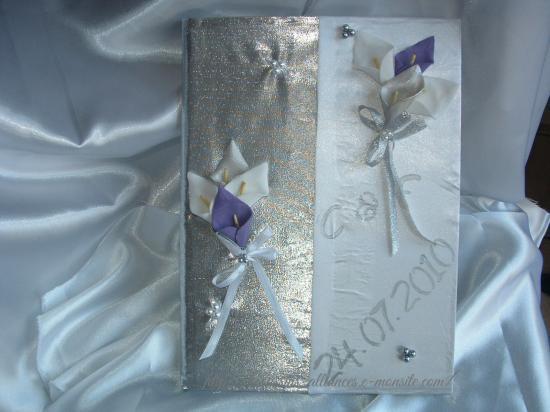 livre d'or blanc argent touche violine