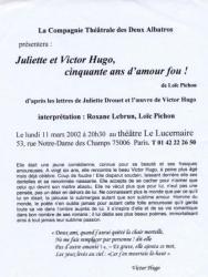 Juliette&V.H.Lucernaire
