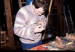 Michel Gaillard, facteur d'orgue sur l'orgue de Contz-les-Bains (1991)