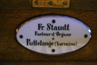 Plaque d'adresse de l'orgue de Contz