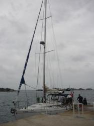 Carti - embarqueando sobre el velero MALUCO