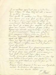 Correspondance de Staudt avec le curé de Contz (extrait)