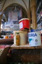 L'orgue protégé durant les travaux de peinture