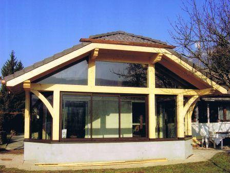 Veranda structure bois
