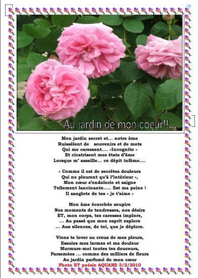 Poesie nostalgie for Au jardin de mon coeur