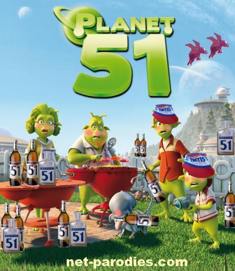 parodie fausse affiche planète 51