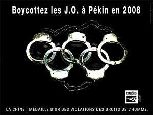 Boycott des j o de pékin en 2008