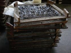 Une étape de la production : le séchage