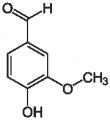 Représentation chimique de la vanilline
