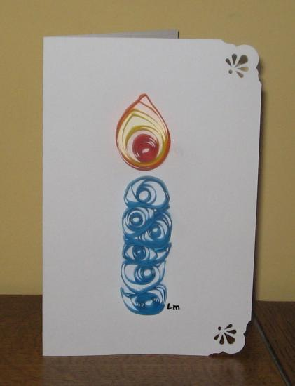 Quilling-bougie