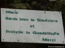La Soufrière - Plaque statue Marie