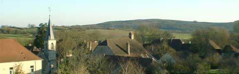 Vue du village de Rainans (39)