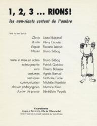 1,2,3 Rions - R.Lebrun : rôle de Virgule