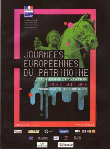 Affiche Journées Européennes du Patrimoine 2008