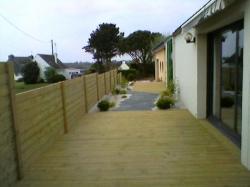 terrasse et palissade en bois pin classe 4