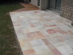 dallage en quartzite rose