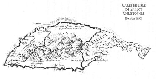 Carte de Saint Christophe