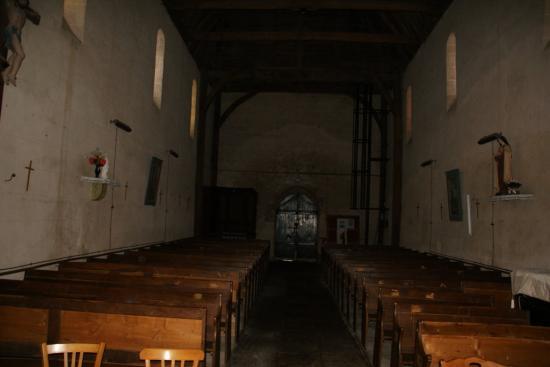 fond de l'église