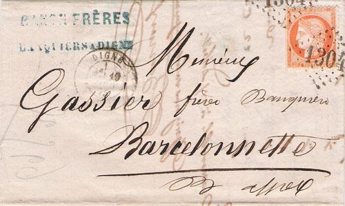 Courrier de 1875