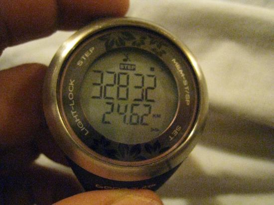 32 832 pas et 24, 620 km
