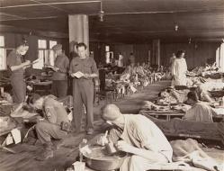 personnes ateintes du typhus