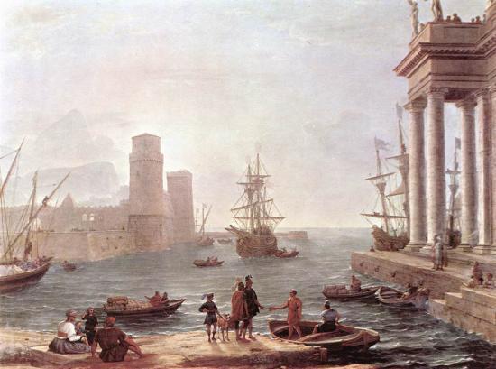 Le départ d'Ulysse Claude Gellée dit Le Lorrain