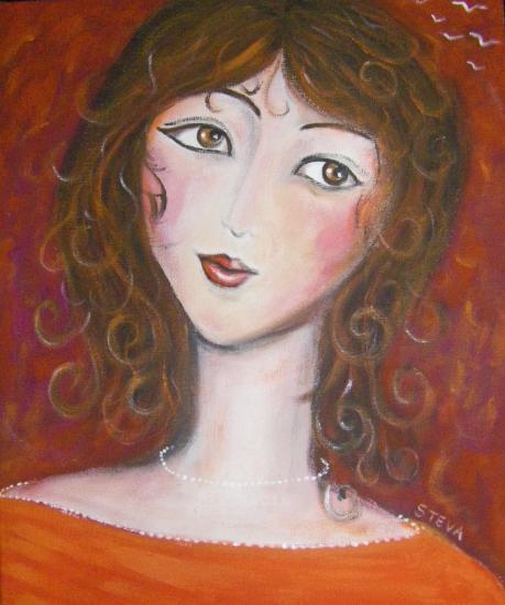 Portrait en Rouge II