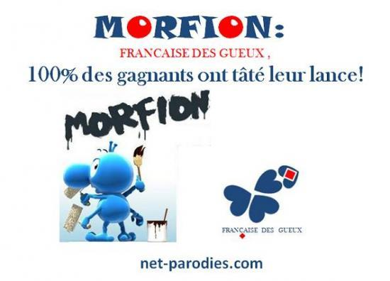 Parodie fausse pub morpion française des jeux morfion