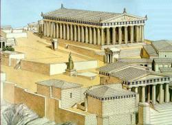 reconstitution du Pathénon d'Athènes