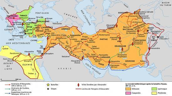 le monde hellénistique (www.larousse.fr)
