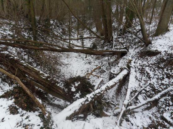 Ravine des Molues sous la neige