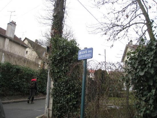 Sente des Grivières à  Pontoise