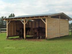 abris à chevaux double
