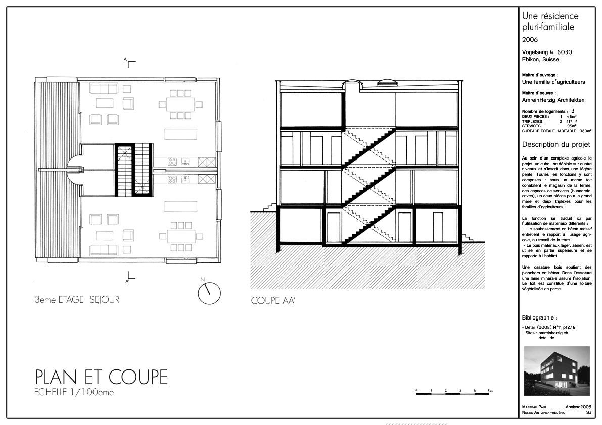 2eme ann e semestre 3 ersatzbau bauernhaus une for Un cartouche architecture