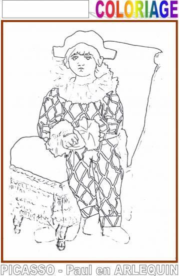 Coloriage Paul En Arlequin.Lundi 15 Fevrier