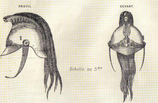 dessin du casque modèle 1872 extrait du JOM