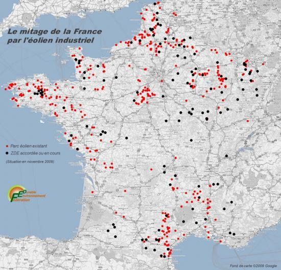 Implantation des parcs éoliens en France:
