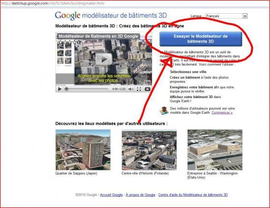 utiliser google earth en ligne Windows