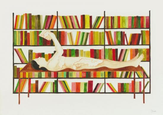 De la serie Las derivas de Oriana. Mapa de viaje. Acuarela sobre papel. 30x42 cms. 2009.