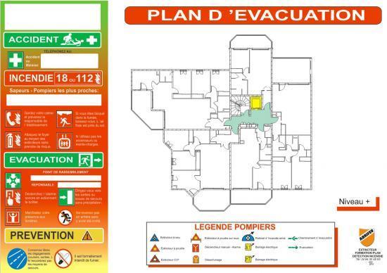 Symbole plan d'évacuation dwg
