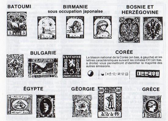 Identification des pays sur les timbres