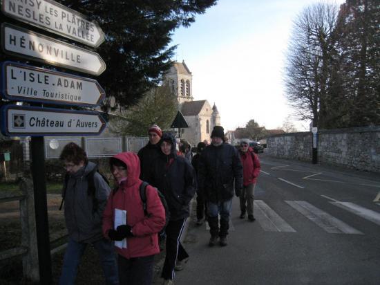 Randonneurs à Bréançon