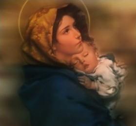 C'est pourquoi nous disons que la Vierge sainte est la Mère de Dieu Marie-et-lEnfant-Jesus