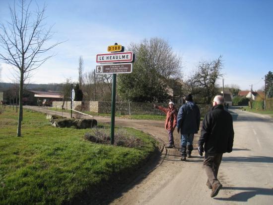 Traversée de la D 188  au Heaulme